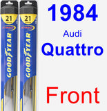 Front Wiper Blade Pack for 1984 Audi Quattro - Hybrid