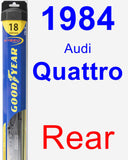 Rear Wiper Blade for 1984 Audi Quattro - Hybrid