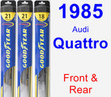 Front & Rear Wiper Blade Pack for 1985 Audi Quattro - Hybrid