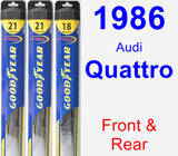 Front & Rear Wiper Blade Pack for 1986 Audi Quattro - Hybrid