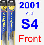 Front Wiper Blade Pack for 2001 Audi S4 - Hybrid