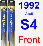 Front Wiper Blade Pack for 1992 Audi S4 - Hybrid