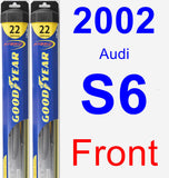 Front Wiper Blade Pack for 2002 Audi S6 - Hybrid