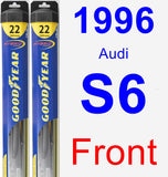 Front Wiper Blade Pack for 1996 Audi S6 - Hybrid