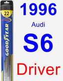 Driver Wiper Blade for 1996 Audi S6 - Hybrid