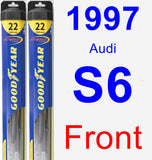 Front Wiper Blade Pack for 1997 Audi S6 - Hybrid
