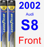 Front Wiper Blade Pack for 2002 Audi S8 - Hybrid