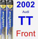 Front Wiper Blade Pack for 2002 Audi TT - Hybrid