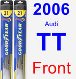 Front Wiper Blade Pack for 2006 Audi TT - Hybrid