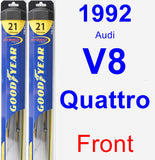 Front Wiper Blade Pack for 1992 Audi V8 Quattro - Hybrid