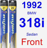 Front Wiper Blade Pack for 1992 BMW 318i - Hybrid