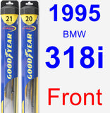 Front Wiper Blade Pack for 1995 BMW 318i - Hybrid