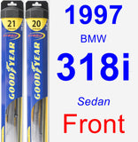 Front Wiper Blade Pack for 1997 BMW 318i - Hybrid