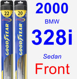 Front Wiper Blade Pack for 2000 BMW 328i - Hybrid
