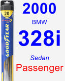 Passenger Wiper Blade for 2000 BMW 328i - Hybrid