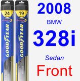 Front Wiper Blade Pack for 2008 BMW 328i - Hybrid