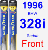 Front Wiper Blade Pack for 1996 BMW 328i - Hybrid