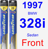 Front Wiper Blade Pack for 1997 BMW 328i - Hybrid