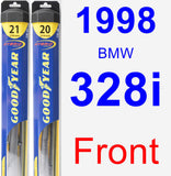 Front Wiper Blade Pack for 1998 BMW 328i - Hybrid