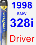 Driver Wiper Blade for 1998 BMW 328i - Hybrid