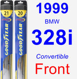 Front Wiper Blade Pack for 1999 BMW 328i - Hybrid