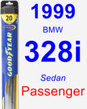 Passenger Wiper Blade for 1999 BMW 328i - Hybrid
