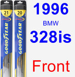 Front Wiper Blade Pack for 1996 BMW 328is - Hybrid