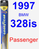 Passenger Wiper Blade for 1997 BMW 328is - Hybrid