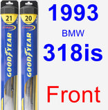 Front Wiper Blade Pack for 1993 BMW 318is - Hybrid