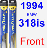Front Wiper Blade Pack for 1994 BMW 318is - Hybrid