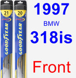 Front Wiper Blade Pack for 1997 BMW 318is - Hybrid