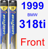 Front Wiper Blade Pack for 1999 BMW 318ti - Hybrid