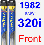 Front Wiper Blade Pack for 1982 BMW 320i - Hybrid