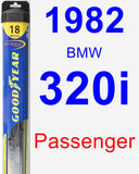 Passenger Wiper Blade for 1982 BMW 320i - Hybrid