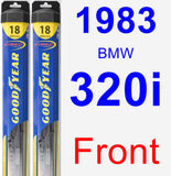 Front Wiper Blade Pack for 1983 BMW 320i - Hybrid