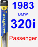 Passenger Wiper Blade for 1983 BMW 320i - Hybrid