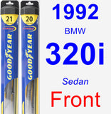 Front Wiper Blade Pack for 1992 BMW 320i - Hybrid