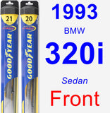 Front Wiper Blade Pack for 1993 BMW 320i - Hybrid