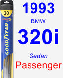 Passenger Wiper Blade for 1993 BMW 320i - Hybrid