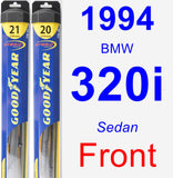 Front Wiper Blade Pack for 1994 BMW 320i - Hybrid