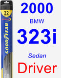 Driver Wiper Blade for 2000 BMW 323i - Hybrid