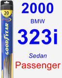 Passenger Wiper Blade for 2000 BMW 323i - Hybrid