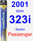 Passenger Wiper Blade for 2001 BMW 323i - Hybrid
