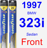 Front Wiper Blade Pack for 1997 BMW 323i - Hybrid