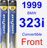 Front Wiper Blade Pack for 1999 BMW 323i - Hybrid