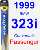 Passenger Wiper Blade for 1999 BMW 323i - Hybrid