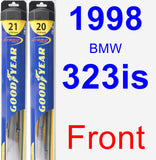 Front Wiper Blade Pack for 1998 BMW 323is - Hybrid
