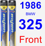 Front Wiper Blade Pack for 1986 BMW 325 - Hybrid