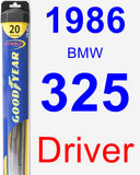 Driver Wiper Blade for 1986 BMW 325 - Hybrid