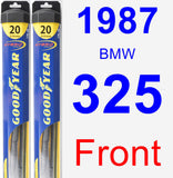 Front Wiper Blade Pack for 1987 BMW 325 - Hybrid